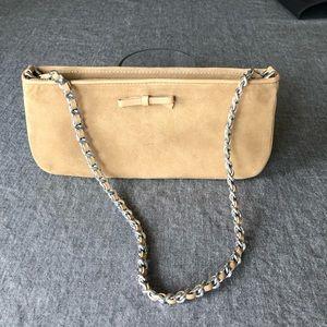 Talbots leather handbag w chain handle